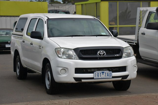 Used Toyota Hilux GGN15R MY10 SR 4x2, 2011 Toyota Hilux GGN15R MY10 SR 4x2 White 5 Speed Automatic Utility