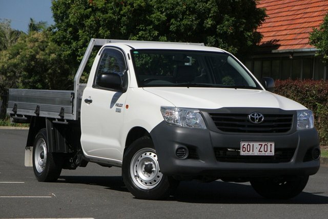 Used Toyota Hilux TGN16R MY12 Workmate 4x2, 2013 Toyota Hilux TGN16R MY12 Workmate 4x2 White 4 Speed Automatic Cab Chassis