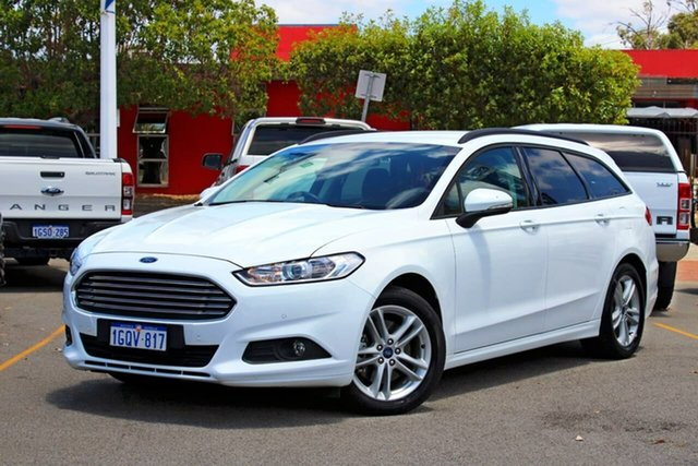 Used Ford Mondeo MD 2018.25MY Ambiente Midland, 2018 Ford Mondeo MD 2018.25MY Ambiente White 6 Speed Sports Automatic Dual Clutch Wagon