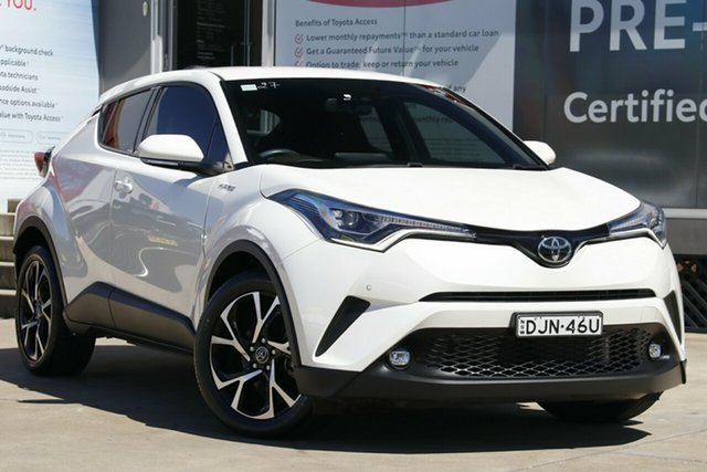 Used Toyota C-HR NGX50R Koba S-CVT AWD, 2017 Toyota C-HR NGX50R Koba S-CVT AWD Pearl White 7 Speed Constant Variable Wagon