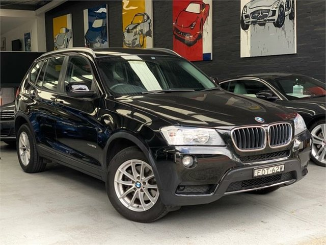 Used BMW X3 F25 xDrive20d, 2013 BMW X3 F25 xDrive20d Black Automatic Wagon