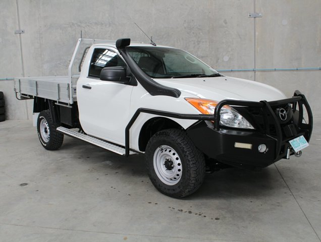 Used Mazda BT-50 UP0YF1 XT, 2013 Mazda BT-50 UP0YF1 XT White 6 speed Manual Cab Chassis