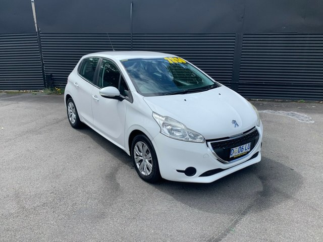 Used Peugeot 208 A9 MY13 Active, 2013 Peugeot 208 A9 MY13 Active White 5 Speed Manual Hatchback