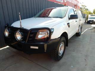 2012 Ford Ranger PX XL Super Cab White 6 Speed Manual Cab Chassis.