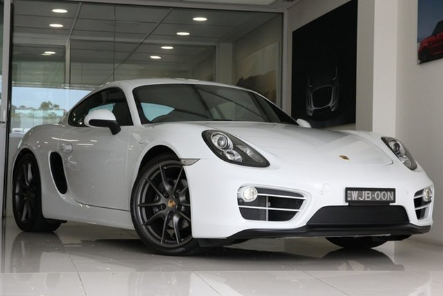 Used Porsche Cayman 981 PDK, 2014 Porsche Cayman 981 PDK White 7 Speed Sports Automatic Dual Clutch Coupe