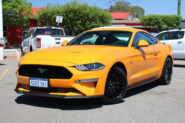 Used Ford Mustang FN 2019MY GT Fastback SelectShift RWD, 2018 Ford Mustang FN 2019MY GT Fastback SelectShift RWD Orange 10 Speed Sports Automatic Fastback