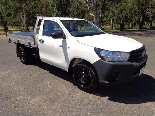 Demo Toyota Hilux TGN121R Workmate 4x2, 2019 Toyota Hilux TGN121R Workmate 4x2 Glacier White 5 Speed Manual Cab Chassis