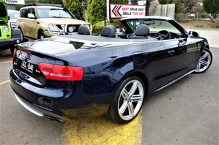 2009 Audi S5 8T MY10 S Tronic Quattro Blue 7 Speed Sports Automatic Dual Clutch Cabriolet.