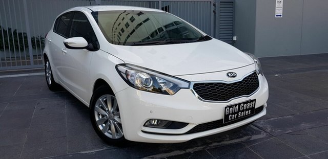 Used Kia Cerato YD MY16 S Premium, 2016 Kia Cerato YD MY16 S Premium White 6 Speed Automatic Hatchback