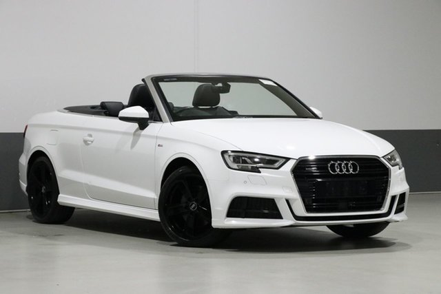 Used Audi A3 8V MY18 2.0 TFSI S Tronic Quattro Sprt, 2018 Audi A3 8V MY18 2.0 TFSI S Tronic Quattro Sprt White 7 Speed Auto S-Tronic Cabriolet
