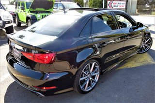 2015 Audi S3 8V MY16 S Tronic Quattro Black 6 Speed Sports Automatic Dual Clutch Sedan.