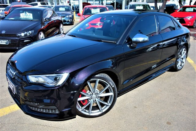 Used Audi S3 8V MY16 S Tronic Quattro, 2015 Audi S3 8V MY16 S Tronic Quattro Black 6 Speed Sports Automatic Dual Clutch Sedan