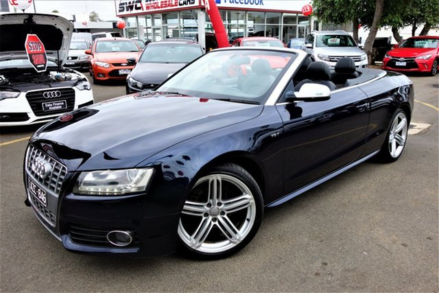 Used Audi S5 8T MY10 S Tronic Quattro, 2009 Audi S5 8T MY10 S Tronic Quattro Blue 7 Speed Sports Automatic Dual Clutch Cabriolet