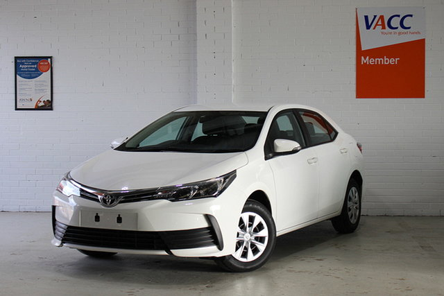 Used Toyota Corolla ZRE172R MY17 Ascent, 2018 Toyota Corolla ZRE172R MY17 Ascent White 7 Speed CVT Auto Sequential Sedan