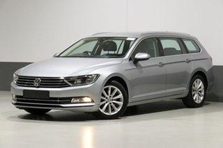 2018 Volkswagen Passat 3C MY18 132 TSI Comfortline Pyrite Silver 7 Speed Auto Direct Shift Wagon.