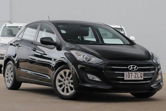 Used Hyundai i30 GD4 Series II MY17 Active, 2016 Hyundai i30 GD4 Series II MY17 Active Black 6 Speed Sports Automatic Hatchback