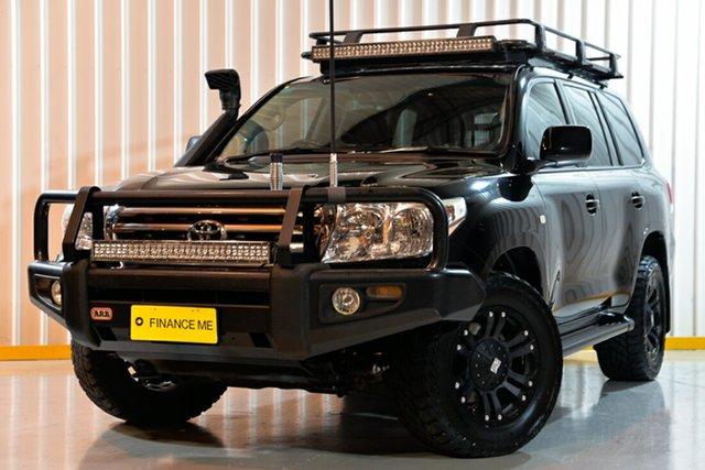 Used Toyota Landcruiser UZJ200R MY10 Sahara, 2010 Toyota Landcruiser UZJ200R MY10 Sahara Black 5 Speed Sports Automatic Wagon