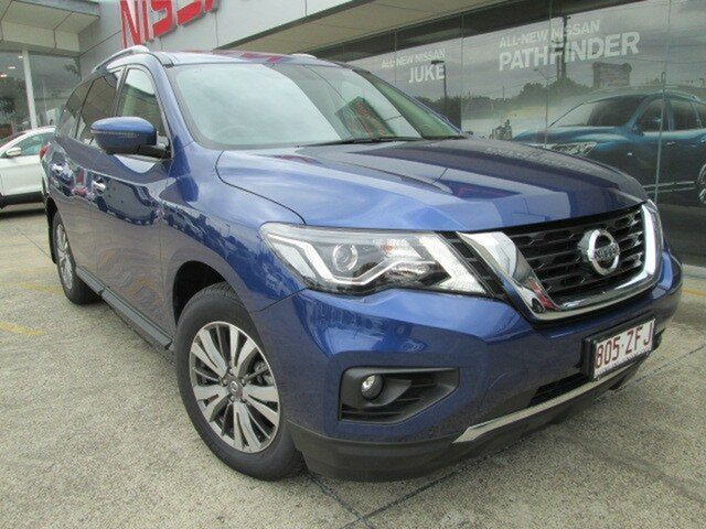Demo Nissan Pathfinder R52 Series III MY19 ST-L X-tronic 2WD, 2019 Nissan Pathfinder R52 Series III MY19 ST-L X-tronic 2WD Caspian Blue 1 Speed Constant Variable