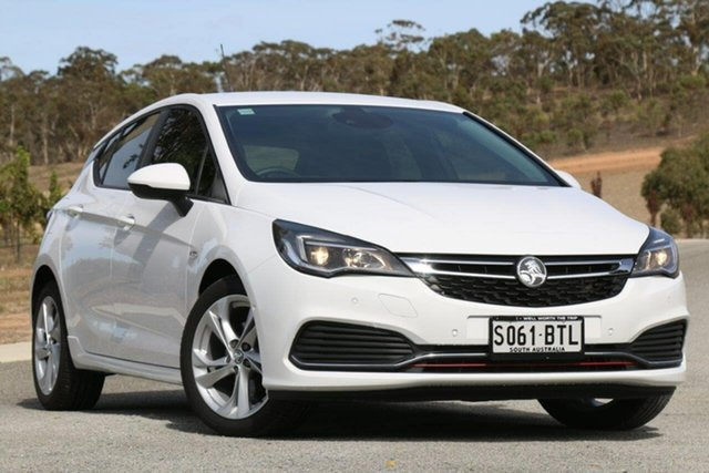 Used Holden Astra BK MY17 RS, 2017 Holden Astra BK MY17 RS White 6 Speed Sports Automatic Hatchback