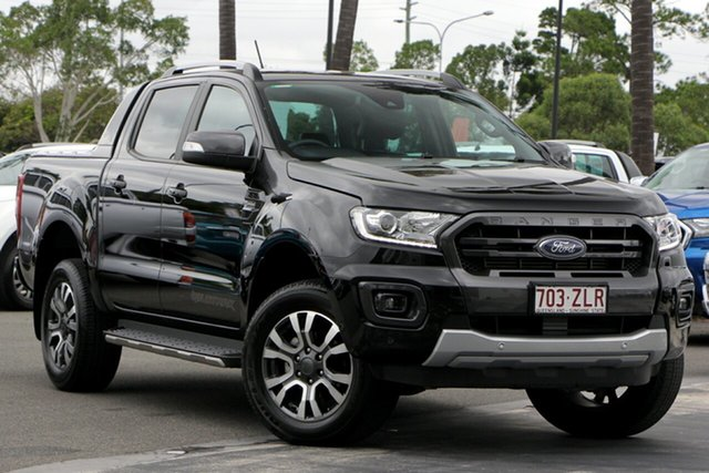 Used Ford Ranger PX MkIII 2019.00MY Wildtrak Pick-up Double Cab, 2019 Ford Ranger PX MkIII 2019.00MY Wildtrak Pick-up Double Cab Black 10 Speed Sports Automatic