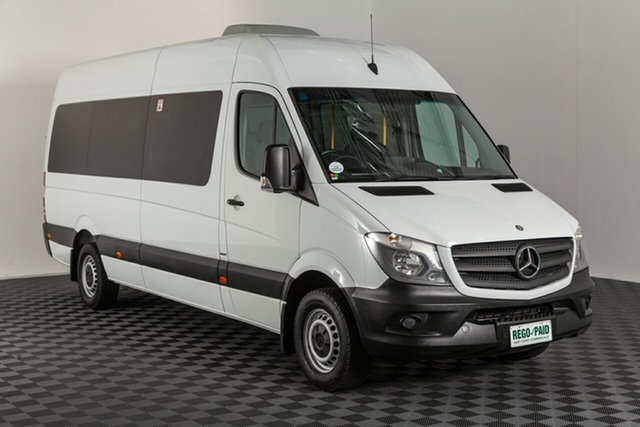 Used Mercedes-Benz Sprinter NCV3 MY14 316CDI Low Roof MWB 7G-Tronic Transfer, 2014 Mercedes-Benz Sprinter NCV3 MY14 316CDI Low Roof MWB 7G-Tronic Transfer White 7 speed Automatic Bus