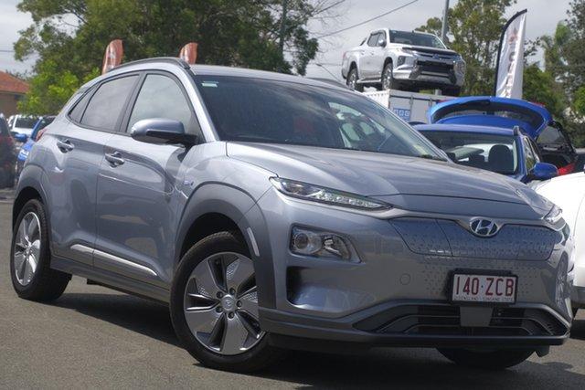 Used Hyundai Kona OS.3 MY19 electric Elite, 2019 Hyundai Kona OS.3 MY19 electric Elite Lake Silver 1 Speed Reduction Gear Wagon