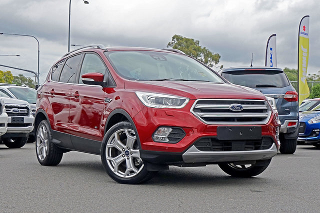 Used Ford Escape ZG 2018.00MY Titanium PwrShift AWD, 2018 Ford Escape ZG 2018.00MY Titanium PwrShift AWD Red 6 Speed Sports Automatic Dual Clutch Wagon