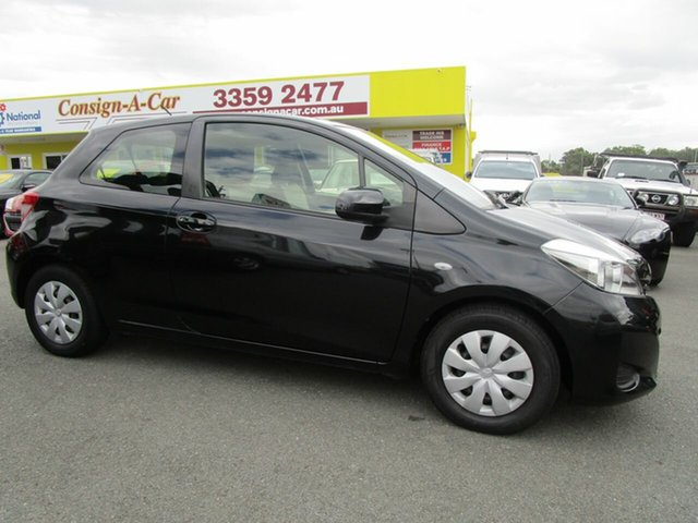 Used Toyota Yaris NCP130R YR, 2014 Toyota Yaris NCP130R YR Black 4 Speed Automatic Hatchback
