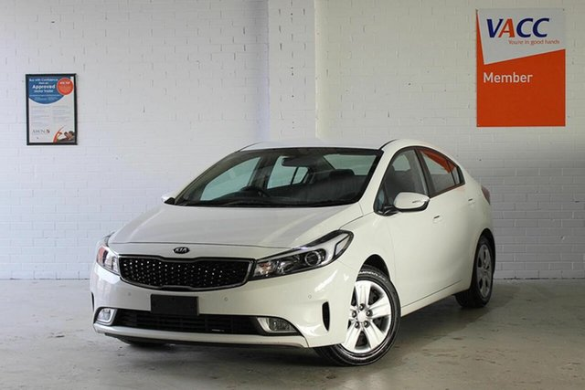 Used Kia Cerato YD MY18 S, 2018 Kia Cerato YD MY18 S White 6 Speed Sports Automatic Sedan
