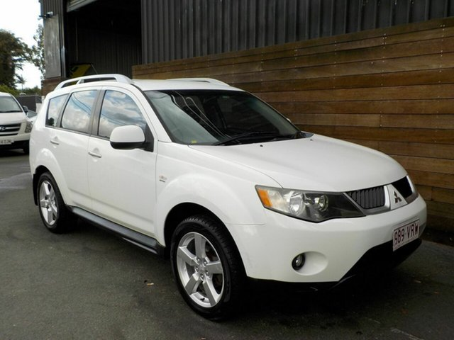 Used Mitsubishi Outlander ZG MY09 Platinum Edition, 2008 Mitsubishi Outlander ZG MY09 Platinum Edition White 6 Speed Constant Variable Wagon