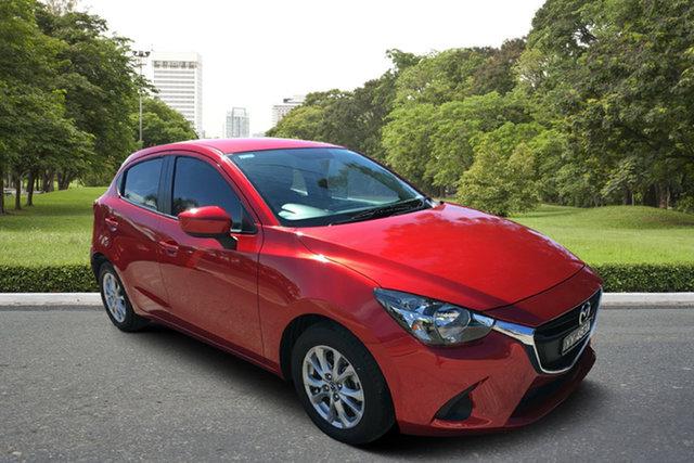 Used Mazda 2 DJ2HAA Maxx SKYACTIV-Drive, 2015 Mazda 2 DJ2HAA Maxx SKYACTIV-Drive Red/Black 6 Speed Sports Automatic Hatchback