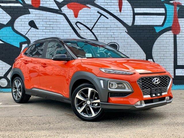 New Hyundai Kona OS.3 MY20 Highlander TTR (FWD), 2020 Hyundai Kona OS.3 MY20 Highlander TTR (FWD) Tangerine Comet & Black Roof 6 Speed Automatic