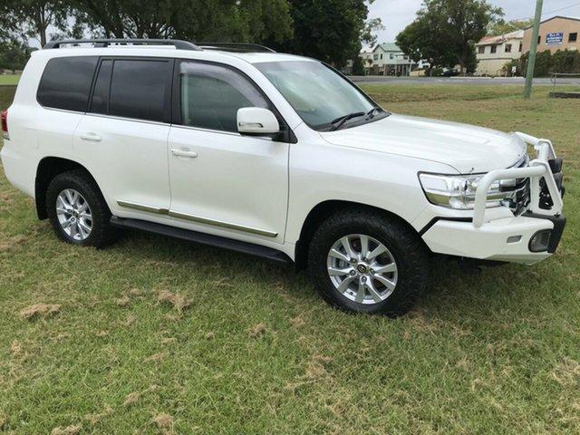 Used Toyota Landcruiser VDJ200R Sahara, 2016 Toyota Landcruiser VDJ200R Sahara White 6 Speed Sports Automatic Wagon