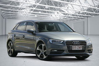 2014 Audi A3 8V MY15 Ambition Sportback S Tronic Dakota Grey 6 Speed Sports Automatic Dual Clutch.