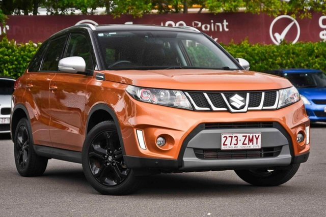 Used Suzuki Vitara LY S Turbo 2WD, 2016 Suzuki Vitara LY S Turbo 2WD Orange 6 Speed Sports Automatic Wagon