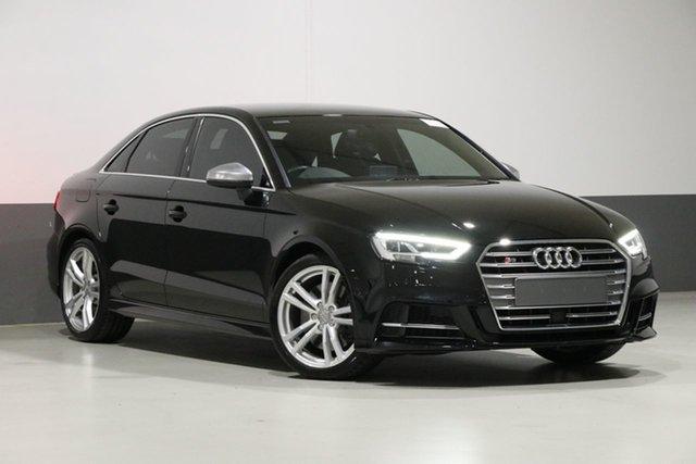 Used Audi S3 8V MY17 2.0 TFSI S Tronic Quattro, 2017 Audi S3 8V MY17 2.0 TFSI S Tronic Quattro Black 7 Speed Auto S-Tronic Sedan