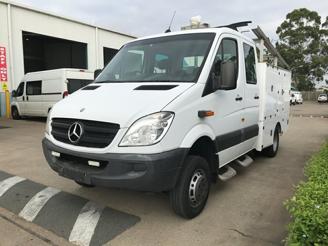 Used Mercedes-Benz Sprinter NCV3 MY12 , 2012 Mercedes-Benz Sprinter NCV3 MY12 White Automatic Cab Chassis