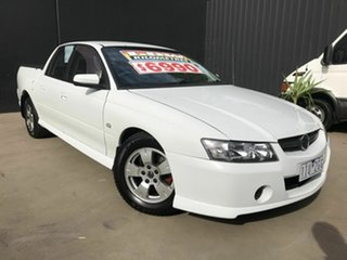 2005 Holden Crewman VZ S White 4 Speed Automatic Crew Cab Utility.