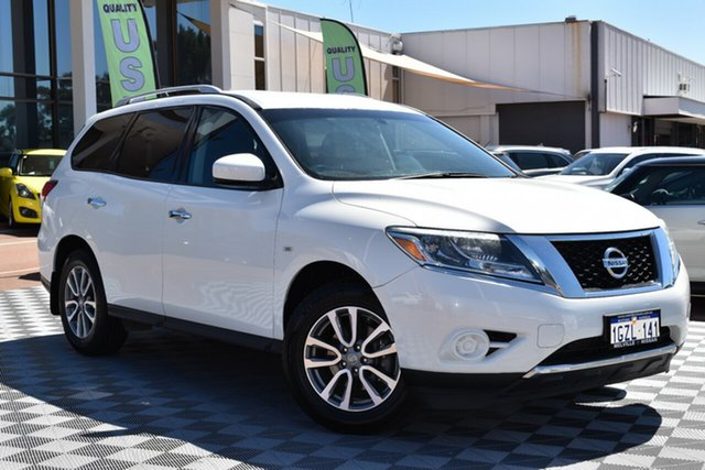 Used Nissan Pathfinder R52 MY14 ST X-tronic 4WD, 2014 Nissan Pathfinder R52 MY14 ST X-tronic 4WD White 1 Speed Constant Variable Wagon