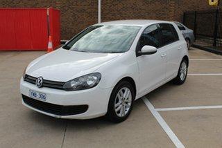 2010 Volkswagen Golf 1K MY10 103 TDI Comfortline White 6 Speed Direct Shift Hatchback.