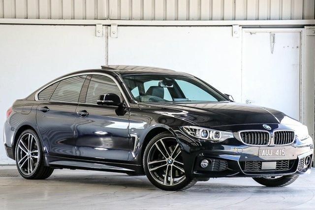 Used BMW 430i F36 LCI M Sport Gran Coupe, 2017 BMW 430i F36 LCI M Sport Gran Coupe Black 8 Speed Sports Automatic Hatchback