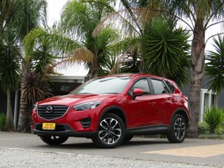 2017 Mazda CX-5 KE1032 Akera SKYACTIV-Drive i-ACTIV AWD Red 6 Speed Sports Automatic Wagon.
