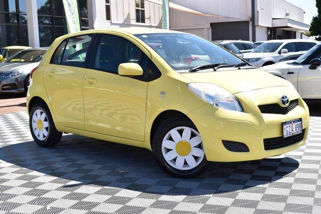 Used Toyota Yaris NCP90R MY10 YR, 2010 Toyota Yaris NCP90R MY10 YR Yellow 5 Speed Manual Hatchback