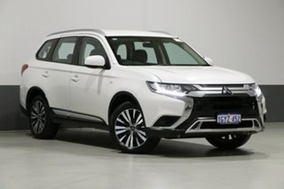 2018 Mitsubishi Outlander ZL MY19 ES 7 Seat (AWD) Pearl White Continuous Variable Wagon.