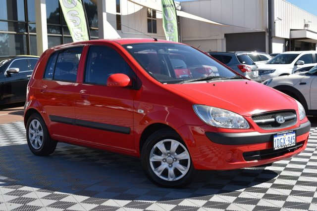Used Hyundai Getz TB MY09 S, 2010 Hyundai Getz TB MY09 S Red 4 Speed Automatic Hatchback