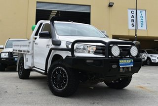 2017 Toyota Hilux GUN126R MY17 SR (4x4) White 6 Speed Manual Cab Chassis