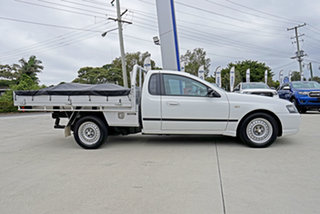 2008 Ford Falcon BF Mk II XL Ute Super Cab Winter White 4 Speed Sports Automatic Utility.