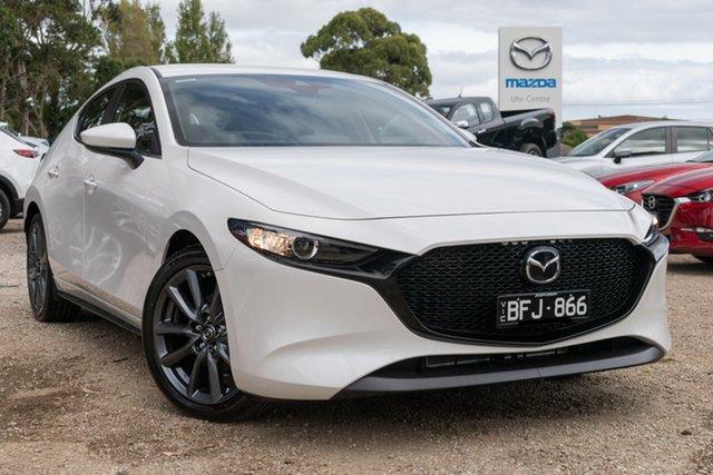 Used Mazda 3 BP2H7A G20 SKYACTIV-Drive Evolve, 2020 Mazda 3 BP2H7A G20 SKYACTIV-Drive Evolve White 6 Speed Sports Automatic Hatchback
