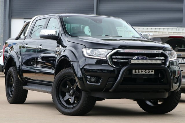 Demo Ford Ranger PX MkIII 2019.00MY XLT Pick-up Double Cab, 2018 Ford Ranger PX MkIII 2019.00MY XLT Pick-up Double Cab Shadow Black 10 Speed Sports Automatic