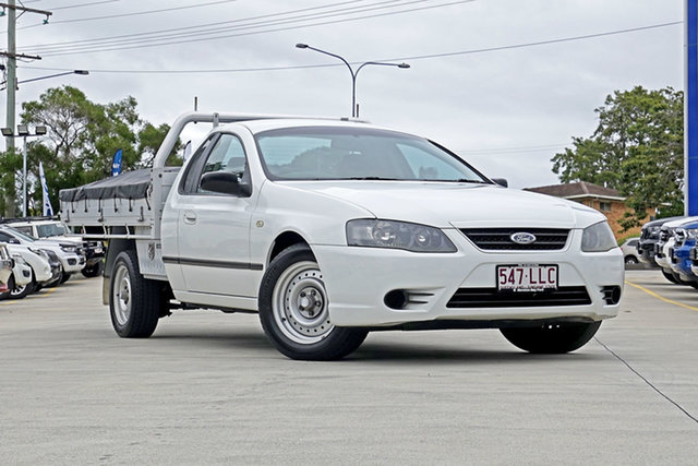 Used Ford Falcon BF Mk II XL Ute Super Cab, 2008 Ford Falcon BF Mk II XL Ute Super Cab Winter White 4 Speed Sports Automatic Utility